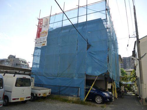 大田区山王M様邸 外装リフォーム工事施工中のサムネイル