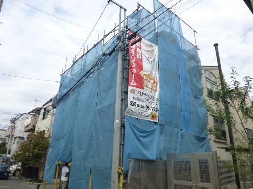 大田区下丸子H様邸 外装リフォーム工事施工中のサムネイル