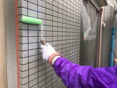 大田区大森西A様邸屋根、外壁工事施工中の画像